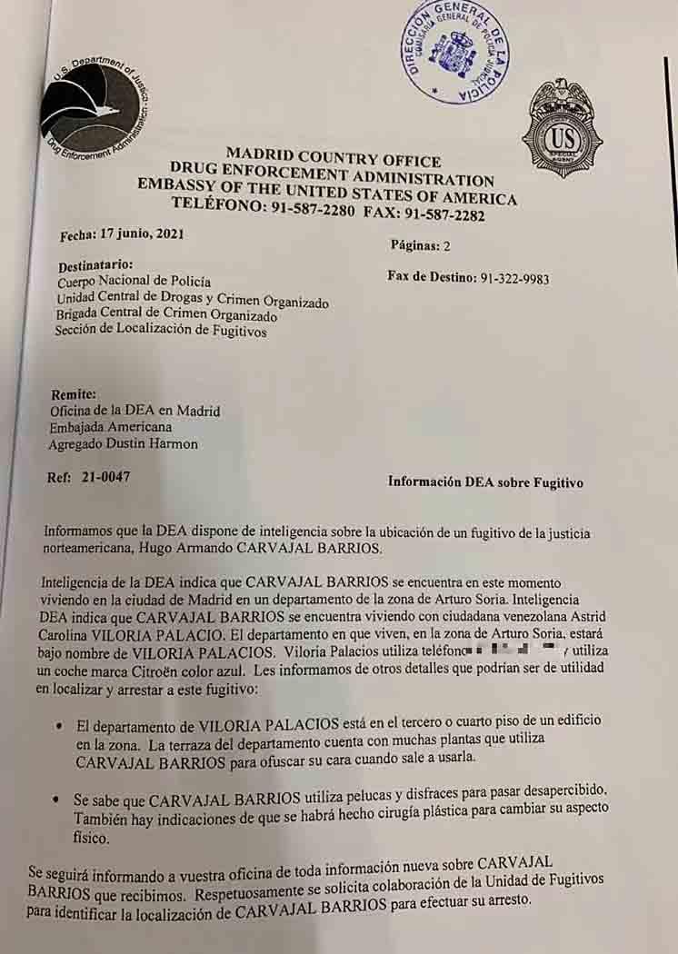 ¿Quién es 'El pollo carvajal' detenido en Madrid por la policía y la DEA?