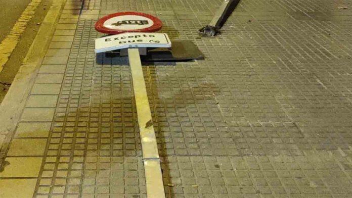 Detenido en Málaga por estrellarse con un coche robado, sin carné y borracho
