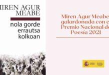 Miren Agur Meabe, galardonada con el Premio Nacional de Poesía 2021