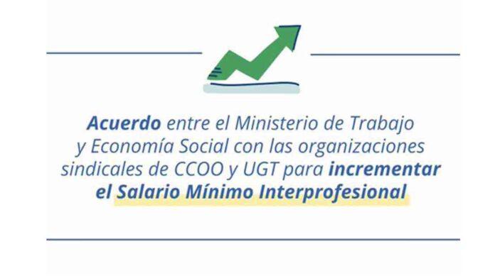 Subida del Salario Mínimo Interprofesional en 15 euros