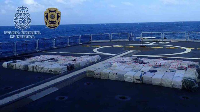 Interceptan un pesquero con 4.248 kilos de cocaína